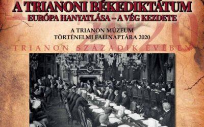 A trianoni békekdiktátum – 2020-as falinaptárunk